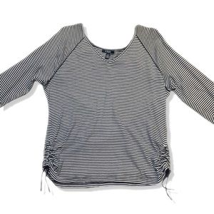 Chaps V-Neck Mid Sleeve Top